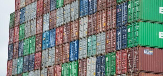 ''Empty Containers Piling Up in Shanghai''