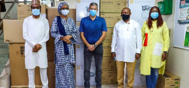 Burnt Head Office: MD , LCM Visits NPA , Donates Photocopiers, Computer Accessories