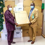 GDNL Visits NPA over Burnt Building, Donates Printers, UPS, others